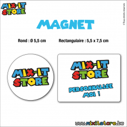 Magnet rond personnalisable
