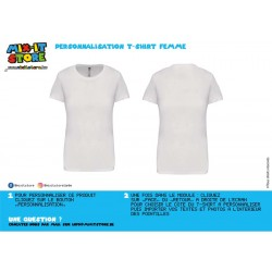 T-shirt Femme Basic Courtes...