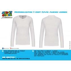 T-shirt Femme Basic Longues...