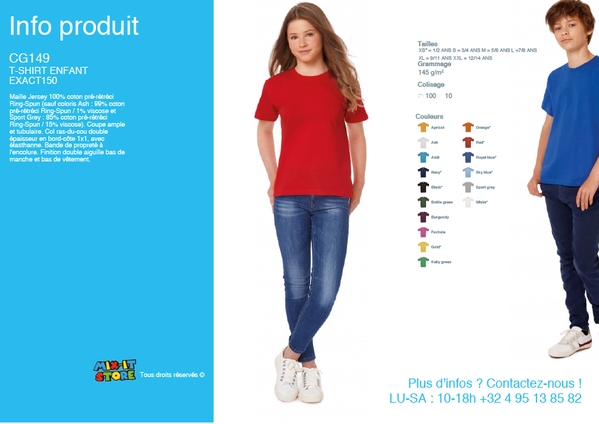 T-shirt Basic enfant unisex