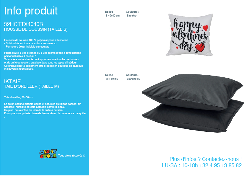 Coussin et oreiller
